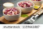 purple cabbage and carrot salad ... | Shutterstock . vector #1159661887