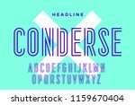 line condensed alphabet and... | Shutterstock . vector #1159670404