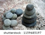pyramid of river rocks | Shutterstock . vector #1159685197