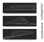 abstract high speed train in... | Shutterstock .eps vector #1159685767