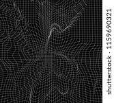 wireframe 3d landscape... | Shutterstock .eps vector #1159690321