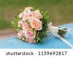 bridegroom taking wedding beige ... | Shutterstock . vector #1159692817