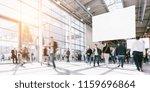 crowd of blurred people.... | Shutterstock . vector #1159696864