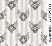 vampire bat's head with open... | Shutterstock .eps vector #1159697911