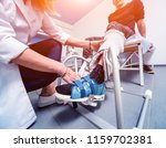patient on cpm  continuous... | Shutterstock . vector #1159702381