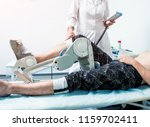 patient on cpm  continuous... | Shutterstock . vector #1159702411