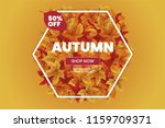 autumn sale text typography... | Shutterstock .eps vector #1159709371