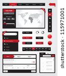 website elements collection set.... | Shutterstock .eps vector #115971001