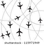 airplane destination routes | Shutterstock .eps vector #115971949