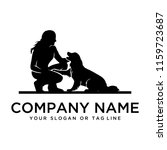dog training logo ideas on a... | Shutterstock .eps vector #1159723687