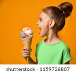 pretty baby girl kid eating... | Shutterstock . vector #1159726807