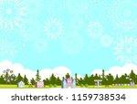 theme park and fireworks | Shutterstock .eps vector #1159738534