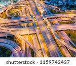 top view of highway road... | Shutterstock . vector #1159742437