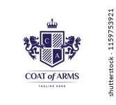 coat of arms heraldic luxury... | Shutterstock .eps vector #1159753921