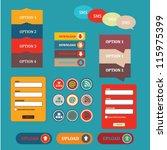 web element icon | Shutterstock .eps vector #115975399
