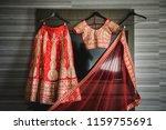 lovely bridal wedding lehanga... | Shutterstock . vector #1159755691