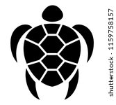 ocean turtle icon. simple... | Shutterstock .eps vector #1159758157