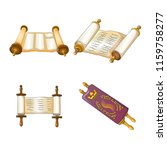 torah scroll book bible shavuot ... | Shutterstock .eps vector #1159758277