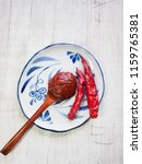 korean sources red pepper paste ... | Shutterstock . vector #1159765381