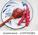 korean sources red pepper paste ... | Shutterstock . vector #1159765384