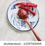 korean sources red pepper paste ...   Shutterstock . vector #1159765444