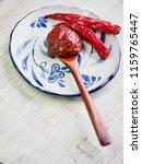 korean sources red pepper paste ...   Shutterstock . vector #1159765447