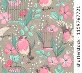 Romantic Seamless Patterns Wit...