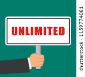illustration of unlimited word... | Shutterstock .eps vector #1159774081