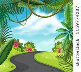 a nature road landscape... | Shutterstock .eps vector #1159774237