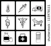 medical icon set vector | Shutterstock .eps vector #115978111