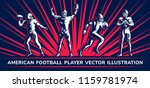 american football vector player ... | Shutterstock .eps vector #1159781974
