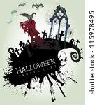 nosferatu halloween card | Shutterstock .eps vector #115978495