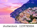 view of positano village along... | Shutterstock . vector #1159785004