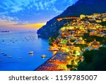 view of positano village along... | Shutterstock . vector #1159785007