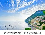 view of positano village along... | Shutterstock . vector #1159785631