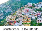 view of positano village along... | Shutterstock . vector #1159785634