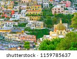 view of positano village along... | Shutterstock . vector #1159785637