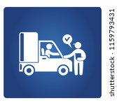 truck delivery and staff ... | Shutterstock .eps vector #1159793431