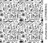 seamless pattern with magical... | Shutterstock .eps vector #1159808461