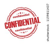 red confidential grunge rubber... | Shutterstock .eps vector #1159811437