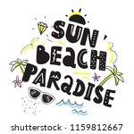 tee print with slogan.... | Shutterstock .eps vector #1159812667