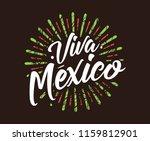 viva mexico. mexico... | Shutterstock .eps vector #1159812901