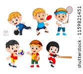 vector illustration of team... | Shutterstock .eps vector #1159821451