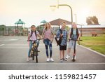 group of smiling elementary... | Shutterstock . vector #1159821457