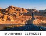 Winding Desert Road In Wadi Rum ...