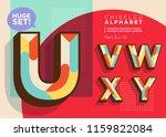 vector mosaic typeset. textured ... | Shutterstock .eps vector #1159822084