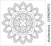 flower mandala illustration.... | Shutterstock . vector #1159829071