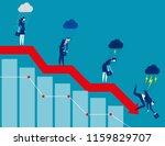 business on falling down chart. ...   Shutterstock .eps vector #1159829707