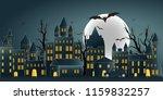 paper art of happy halloween... | Shutterstock .eps vector #1159832257
