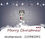 christmas house | Shutterstock .eps vector #115983391